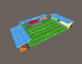 #4 for Create Low Poly Football/Soccer Stadium with Goalposts and pitch texture by myonjinsol