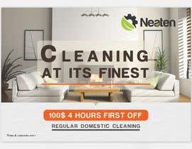 Nro 12 kilpailuun Design a Flyer for our Domestic Cleaning Promotion käyttäjältä Splunge