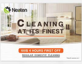 Nro 15 kilpailuun Design a Flyer for our Domestic Cleaning Promotion käyttäjältä Splunge