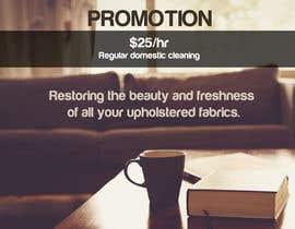 Nro 4 kilpailuun Design a Flyer for our Domestic Cleaning Promotion käyttäjältä Janniara
