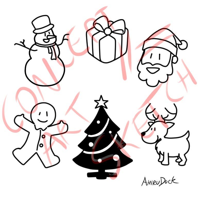 Proposition n°8 du concours Cute Christmas Drawings