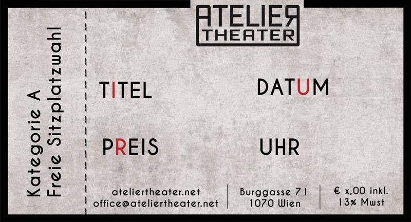 Create a Template for an entrance ticket for a theatre – Theater Ticket Template