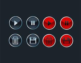 #13 for 3D Icon Set for an application af TemplateDigitale