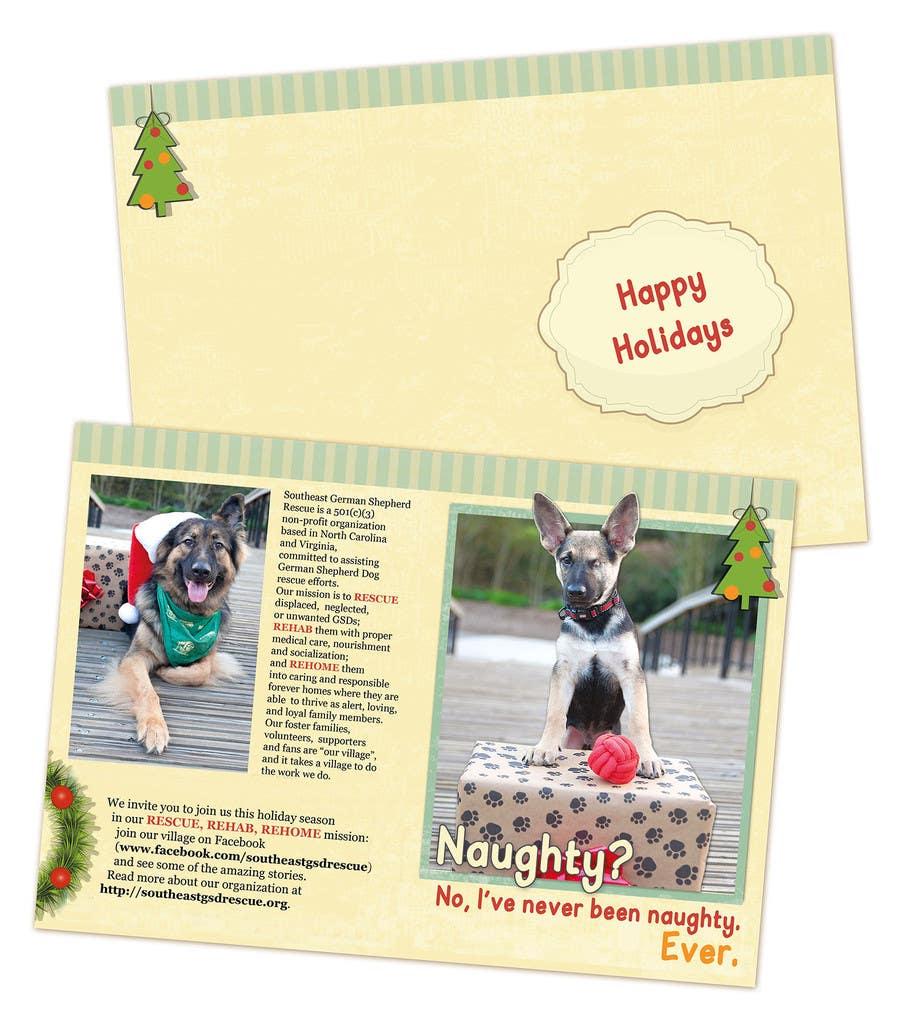 Konkurrenceindlæg #7 for Design a 5x7 Christmas Card for Southeast German Shepherd Rescue