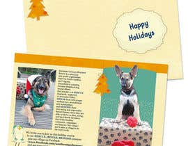 #8 untuk Design a 5x7 Christmas Card for Southeast German Shepherd Rescue oleh tmorozova69