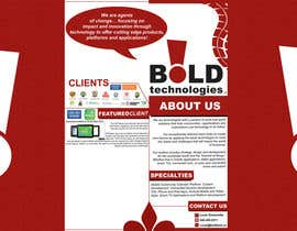 #17 for Design a Brochure for BOLD! Mobile Community Platform by samzter21