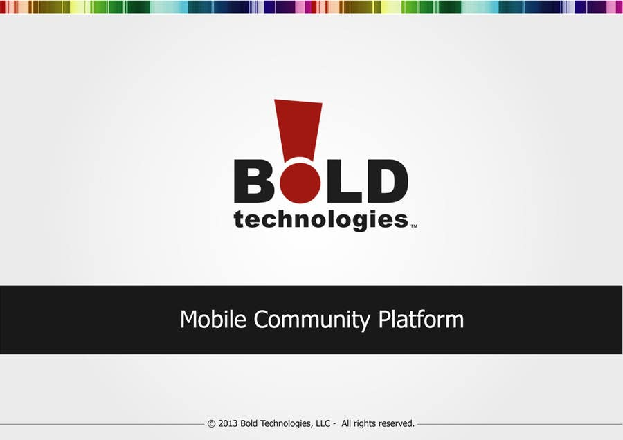 #2 for Design a Brochure for BOLD! Mobile Community Platform by rimskik