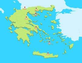 Nro 12 kilpailuun Map of Greek Wine Regions käyttäjältä Badraddauza