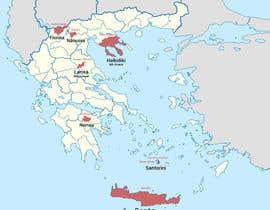 Nro 3 kilpailuun Map of Greek Wine Regions käyttäjältä luutrongtin89