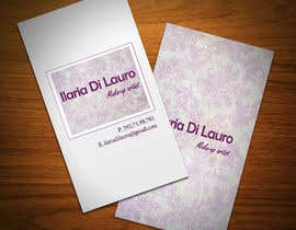 #63 para Business Card Design for Ilaria Di Lauro - Make-up artist por StrujacAlexandru