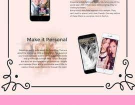 Nro 6 kilpailuun Landing Page for Snapchat Filter Design käyttäjältä zaffer8502
