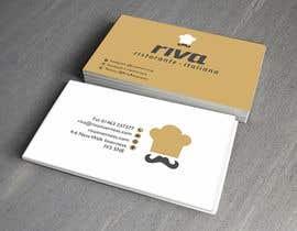Nro 14 kilpailuun Design a restaurant business card käyttäjältä shoebnoor
