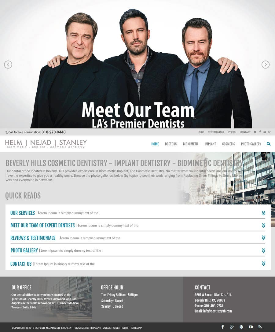 Kilpailutyö #64 kilpailussa High-end Dental Homepage