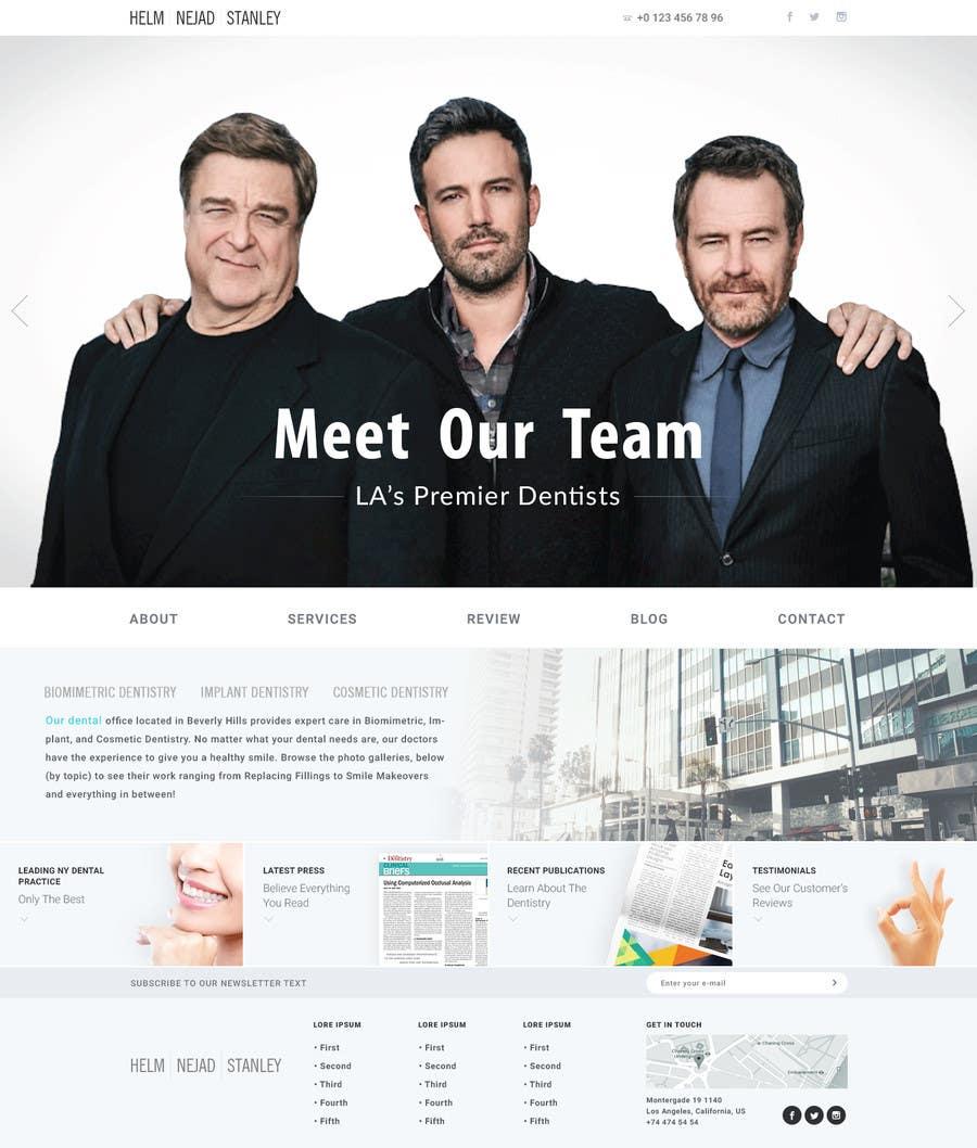 Kilpailutyö #93 kilpailussa High-end Dental Homepage