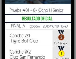 #1 for Rowing Regatta Live-Results UI by AquimaWeb