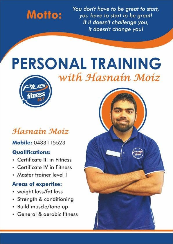 a4 poster personal trainer profile freelancer