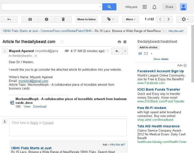 #29 for Write Articles for reputable US blogs by mynk16