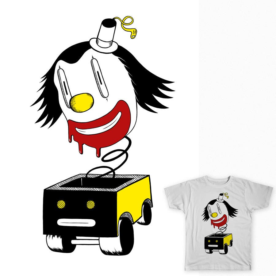 #10 for Design a t-shirt with a clown illustration - cartoon by maximo20858