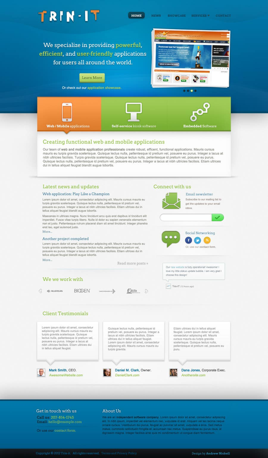 #41 for Website Design for Trin-iT Software Solutions by andrewnickell