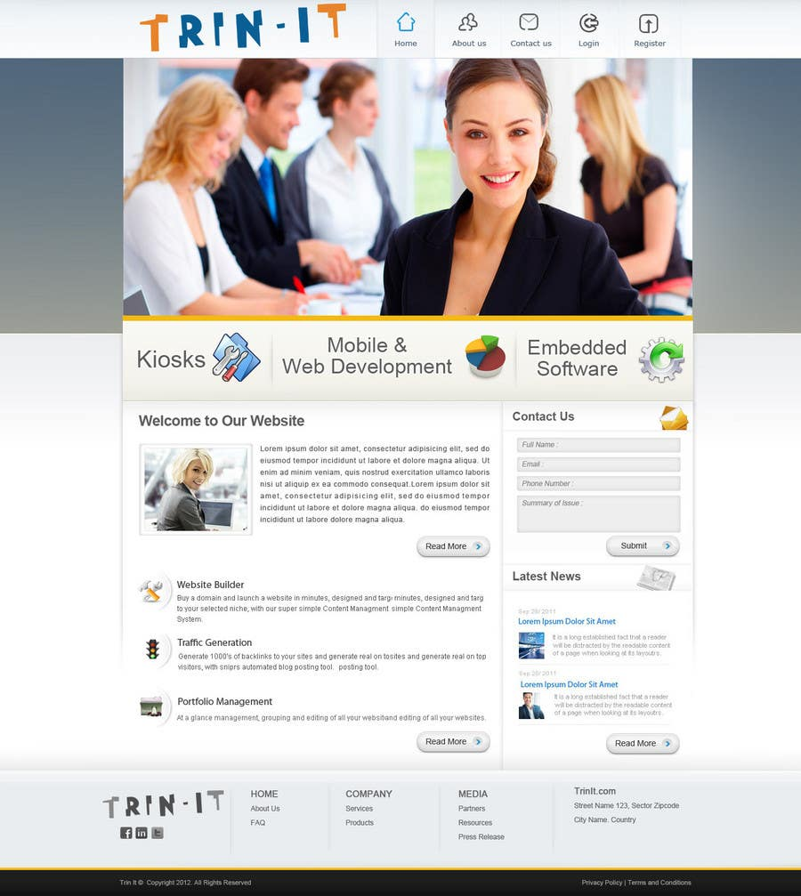 #37 for Website Design for Trin-iT Software Solutions by monikjee