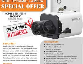 #27 untuk Design a Flyer for a Special Offer on Sony CCTV Camera Model FB-531 oleh sanjoygraphics