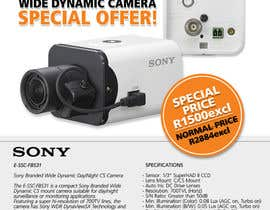 #12 untuk Design a Flyer for a Special Offer on Sony CCTV Camera Model FB-531 oleh whoislgc
