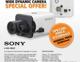 #18 untuk Design a Flyer for a Special Offer on Sony CCTV Camera Model FB-531 oleh whoislgc