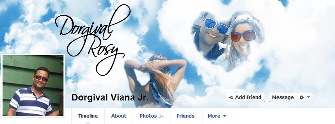 #72 for Design a Facebook Cover for a Couple with photos by vishnuremesh