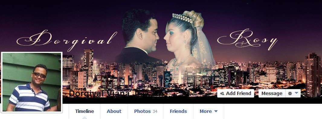 #77 for Design a Facebook Cover for a Couple with photos by vishnuremesh
