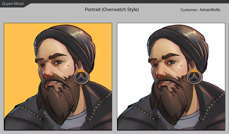 Kilpailutyö #10 kilpailussa Illustrate my face as an Overwatch character