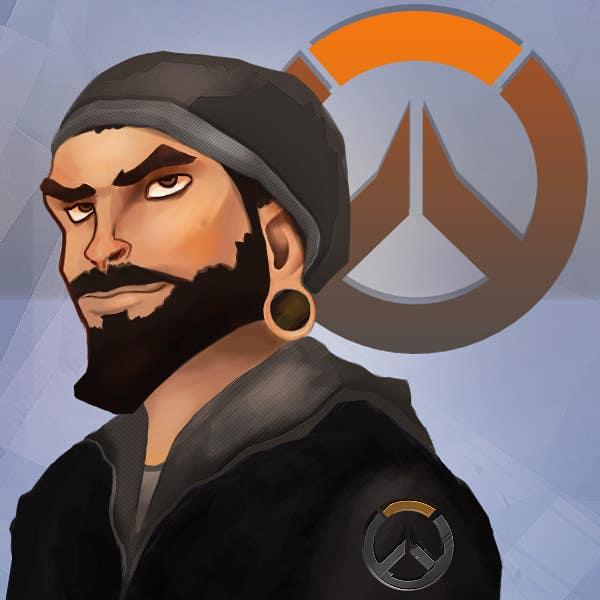Kilpailutyö #6 kilpailussa Illustrate my face as an Overwatch character
