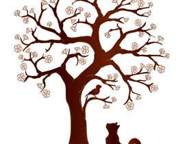 #52 untuk Wall decal design - Trees and Flowers oleh elenabsl