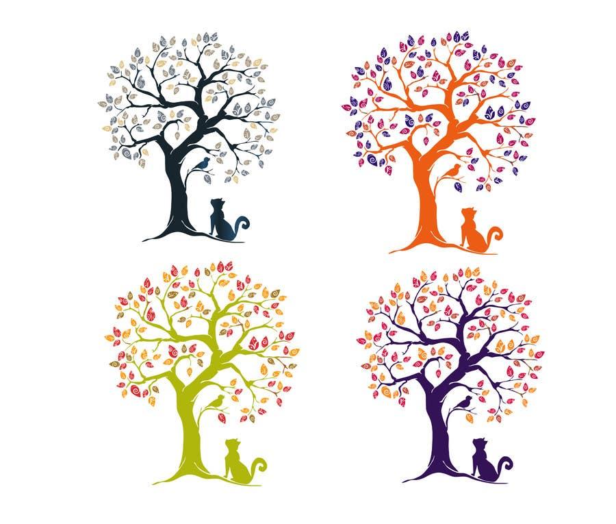 Inscrição nº 54 do Concurso para Wall decal design - Trees and Flowers