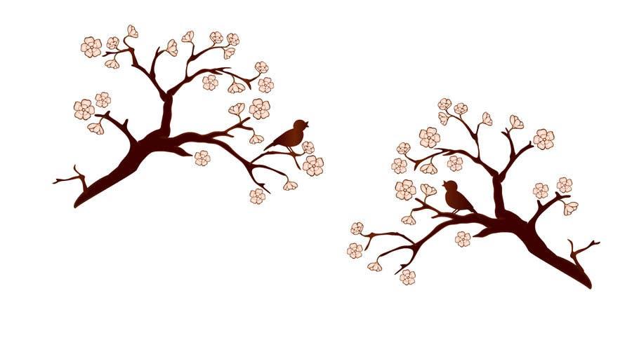 Inscrição nº 55 do Concurso para Wall decal design - Trees and Flowers