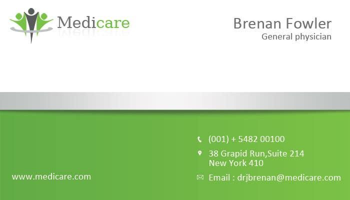 Penyertaan Peraduan #41 untuk Medical Practice Business Card Design
