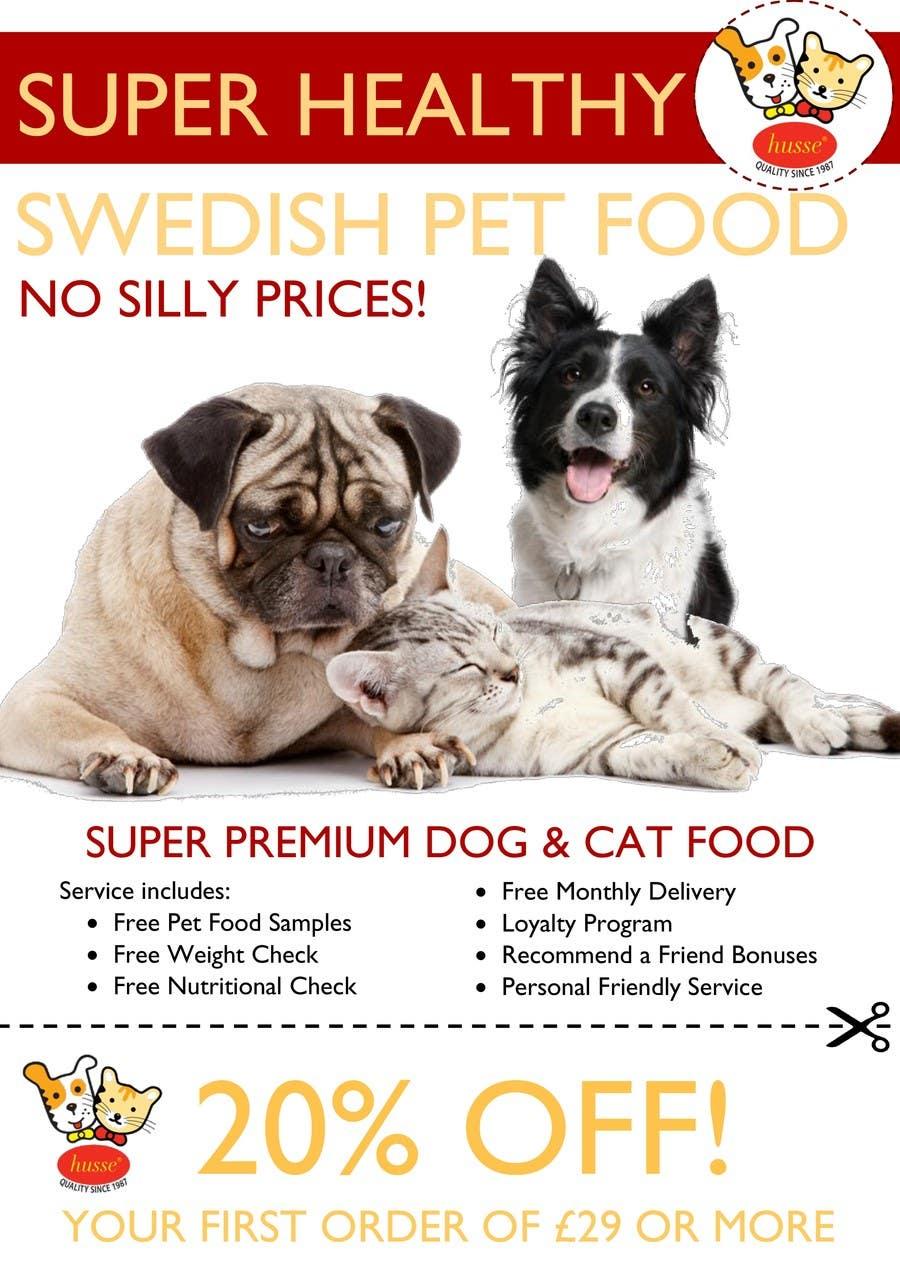 Design a Flyer for our Petfood Business için 30 numaralı Yarışma Girdisi