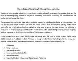 Nro 13 kilpailuun Help me with Internet Marketing käyttäjältä trebble