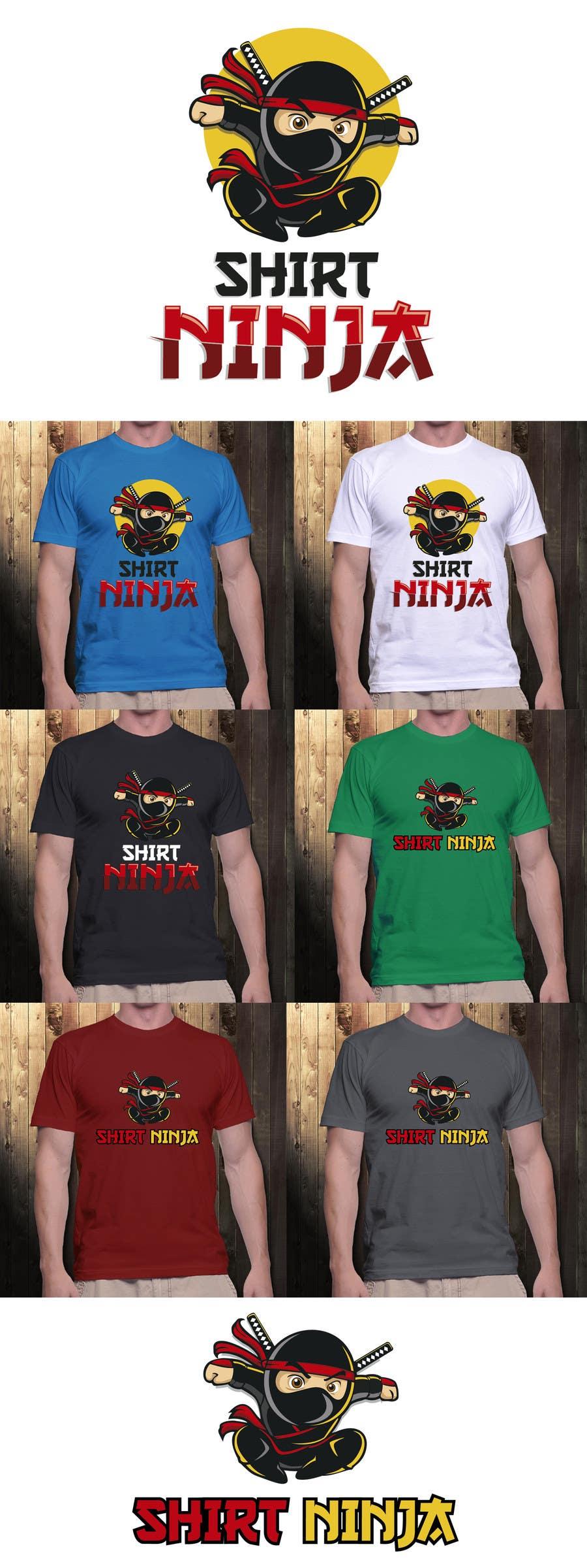 Kilpailutyö #20 kilpailussa Develop SHIRT NINJA logo / brand identity