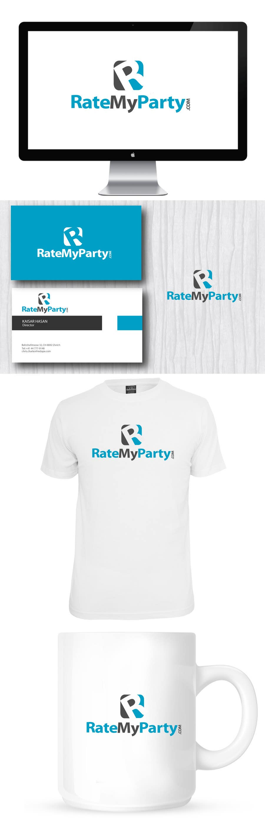 #91 for Design a Logo for ratemyparty.com by brandmaker2007