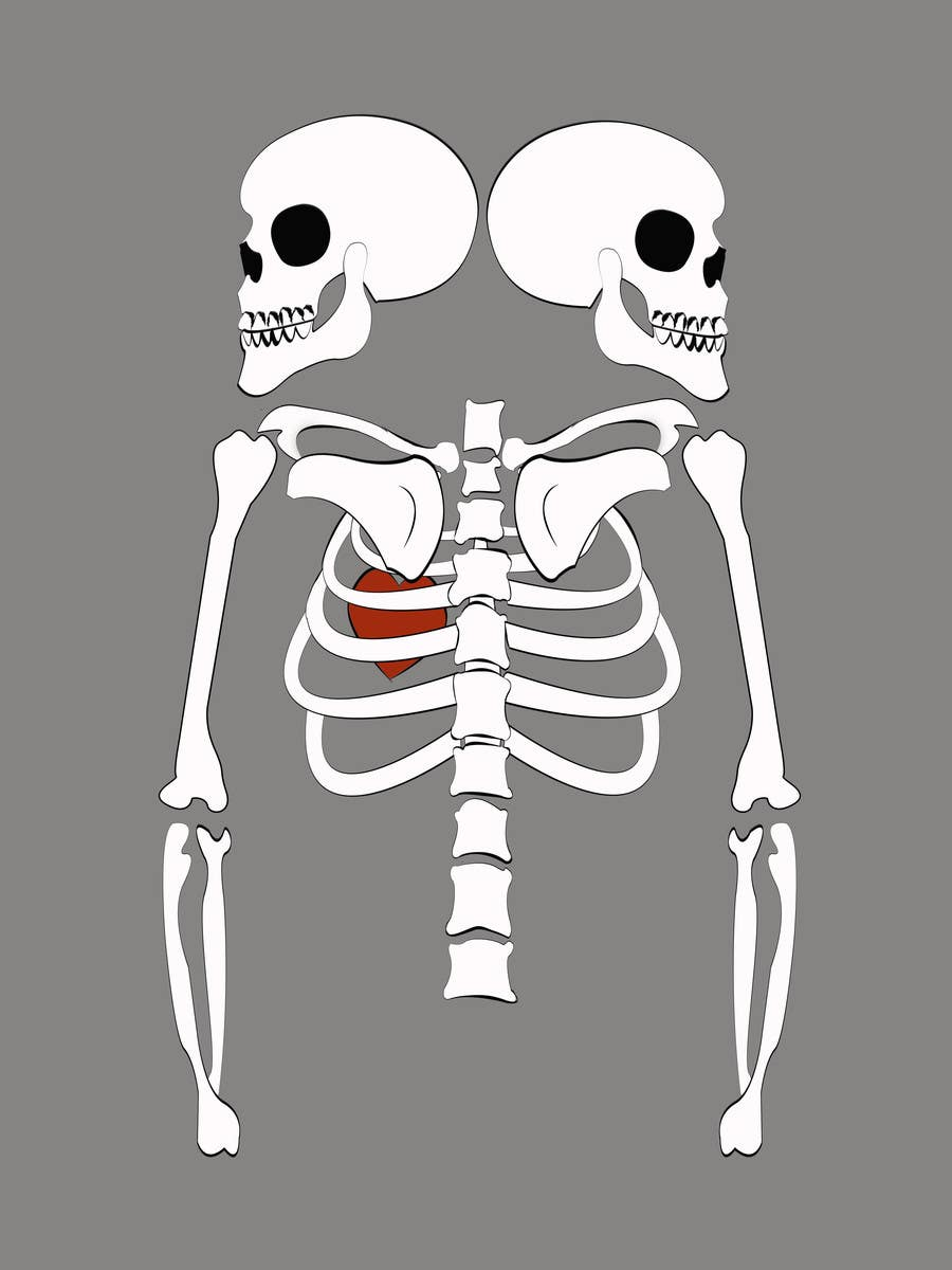 #8 for Pregnant Skeleton T-shirt Design by marinaChe