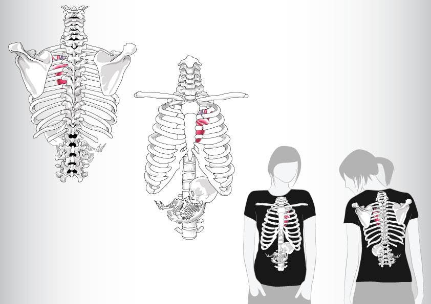 #3 for Pregnant Skeleton T-shirt Design by GeorgeOrf