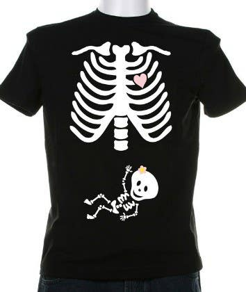 #12 for Pregnant Skeleton T-shirt Design by nextstep789123