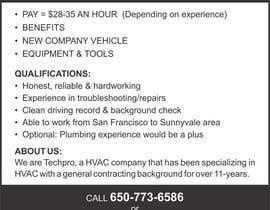 sandeepstudio tarafından Design a Job Wanted Ad - HVAC Service Technician için no 4