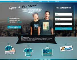 Nro 8 kilpailuun Landing Page for an Apparel Company käyttäjältä Creosol