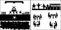 Contest Entry #8 for 10 pictograms in black and white
