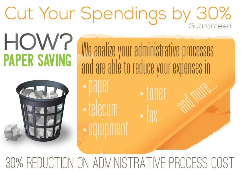 Penyertaan Peraduan #23 untuk Ad to attract customer to get Paper Saving Consulting Services