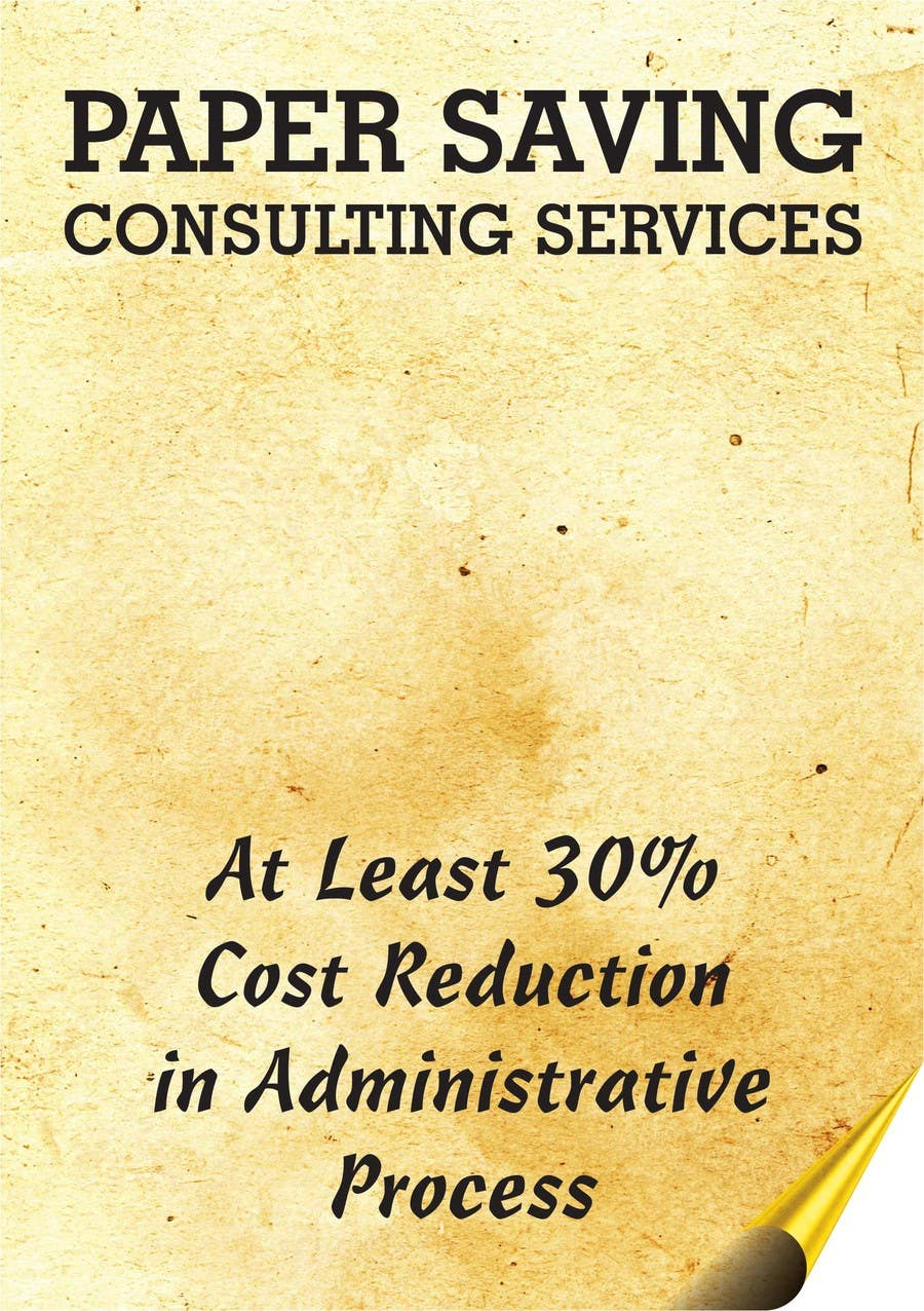 #5 for Ad to attract customer to get Paper Saving Consulting Services by linokvarghese