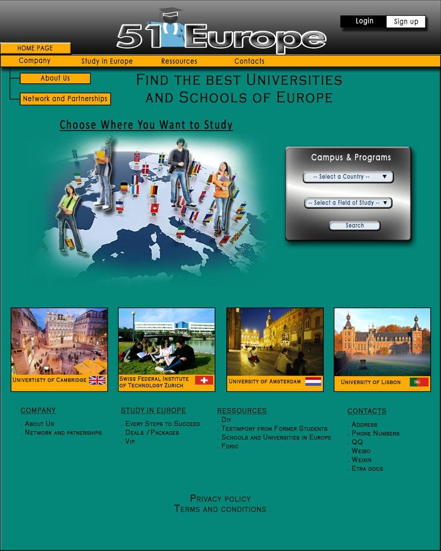 Kilpailutyö #15 kilpailussa Create a website for a student orientation company / 51europe.org