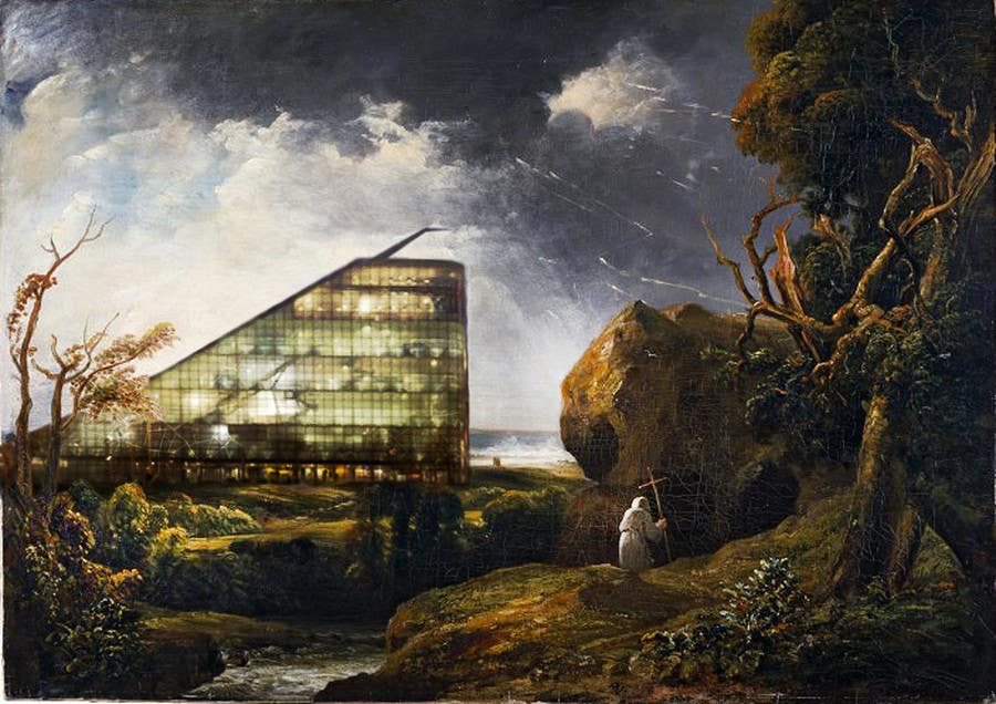 #78 for Fun Project - Photoshop new buildings into an old painting by studiobacs