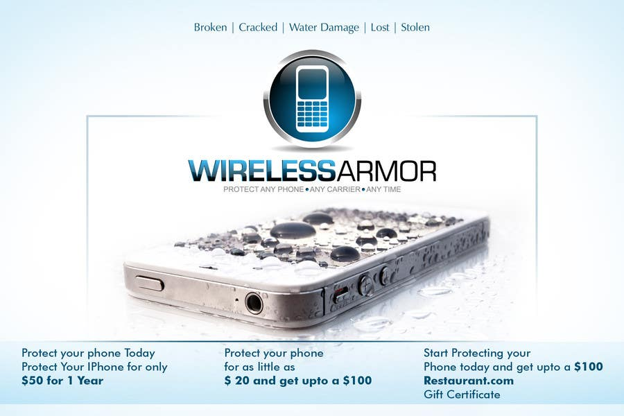 #1 for Design a Flyer for Wireless Armor by Sahir75